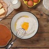 Ingredienser för att laga mat bageriprodukter Royaltyfri Foto