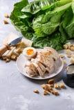 Ingredienser för Caesar sallad Royaltyfri Bild