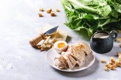 Ingredienser för Caesar sallad Royaltyfri Fotografi