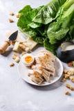 Ingredienser för Caesar sallad Arkivfoton