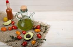 Ingredienser för den vårgrönsakbuddha bunken sund läcker mat Arkivfoto