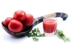 Ingredienser för förberedelsen av tomaten Royaltyfria Bilder