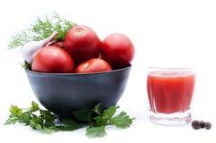Ingredienser för framställning av tomaten Arkivbilder