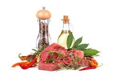 Ingredienser för matlagning Arkivbilder