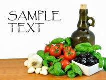Ingredienser för matlagning arkivbild