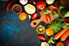 Ingredienser för matlagning royaltyfri fotografi