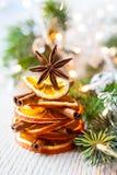 ingredienser för matlagning för anisejul kryddar kanelbruna stjärnasticks Royaltyfri Fotografi