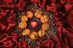 ingredienser för matlagning för anisejul kryddar kanelbruna stjärnasticks Arkivfoto