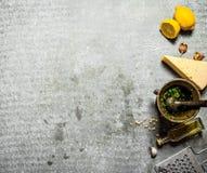 Ingredienser för pesto Royaltyfria Foton