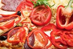 Ingredienser för pizza Arkivbilder