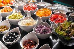 Ingredienser för salladen Royaltyfri Bild
