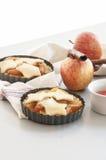 Ingredienser för stekhet äppelpaj Arkivbild