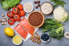 Ingredienser för sund matlagning royaltyfri fotografi