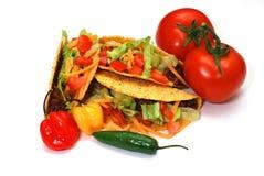 ingredienser isolerade tacos Arkivfoton
