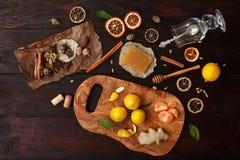 ingredienser mulled wine Fotografering för Bildbyråer