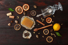 ingredienser mulled wine Arkivbilder