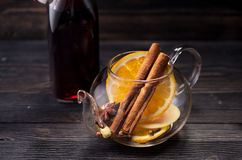 ingredienser mulled wine Arkivfoton