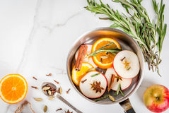 ingredienser mulled wine Arkivbild