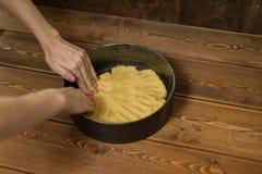Ingredienser och hjälpmedel som gör en kaka Royaltyfri Fotografi