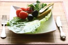 Ingredienser som gör salladen Royaltyfri Bild