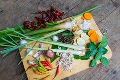 Ingredienser thailändsk TUM-YAM Arkivfoton