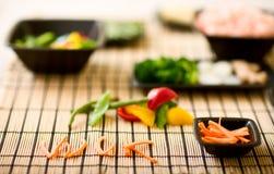 ingredienser wokar arkivfoto