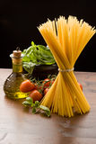 ingrediensitalienarepasta Royaltyfria Bilder