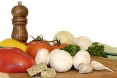 ingredienspastagrönsaker royaltyfri bild