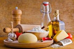 ingredienspizza Royaltyfri Foto