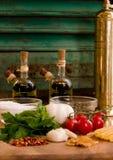Ingredient 3. Pasta Oglio ... Fresh stock photography
