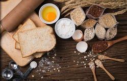 Ingredient of bread grains Stock Image