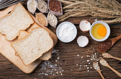 Ingredient of bread grains Stock Image