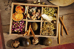 Ingredient for chinese herbal Royalty Free Stock Photo