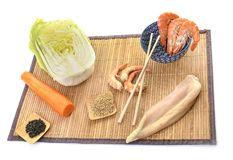 Ingredient for chinese salad. In a restaurant Royalty Free Stock Images