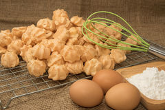 Ingredient of choux cream Royalty Free Stock Images