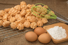 Ingredient of choux cream Royalty Free Stock Photo