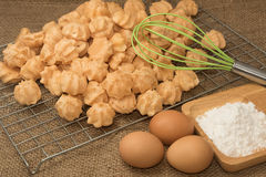Ingredient of choux cream Stock Images
