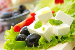 Ingredient for greek salad Royalty Free Stock Photo