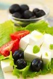 Ingredient for greek salad Stock Photos
