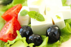 Ingredient for greek salad Stock Photography