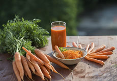 Ingredient of healthy nutrition carrots, in different dishes Stock Photo
