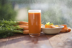 Ingredient of healthy nutrition carrots, in different dishes Stock Image