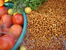 Ingredient for indian street black chickpea chaat. In india Stock Photos