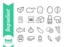 Free Ingredient Line Icons Stock Image - 61379131