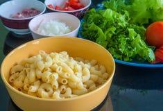 Ingredient of macaroni Royalty Free Stock Images