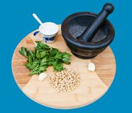 Ingredient for pesto Royalty Free Stock Photo