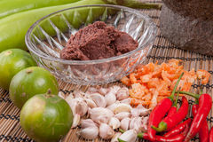 Ingredient Shrimp Paste Chilli Sauce Royalty Free Stock Image
