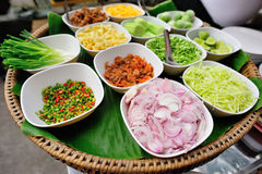 Ingredient for thai food. In bowl Royalty Free Stock Photos