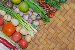 Ingredient Thai Food On Weave Background 2 Stock Photo