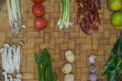 Ingredient Thai Food On Weave Background 2 Royalty Free Stock Image